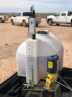 a water tank monitor installed on a tank