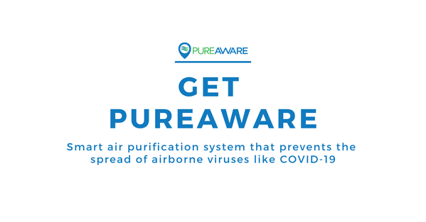 get pureaware smart air purification system that prevents the spread of airborne viruses like covid-19