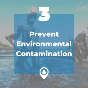 prevent environmental contamination