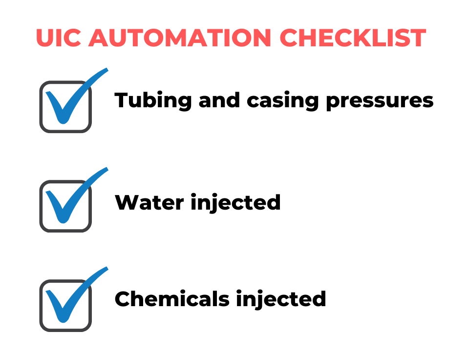 underground injection automation checklist